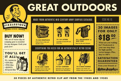 Great Outdoors   Retro Clip Art