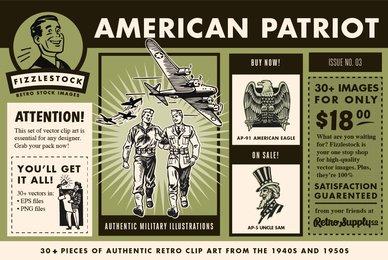 American Patriot   Clip Art Pack