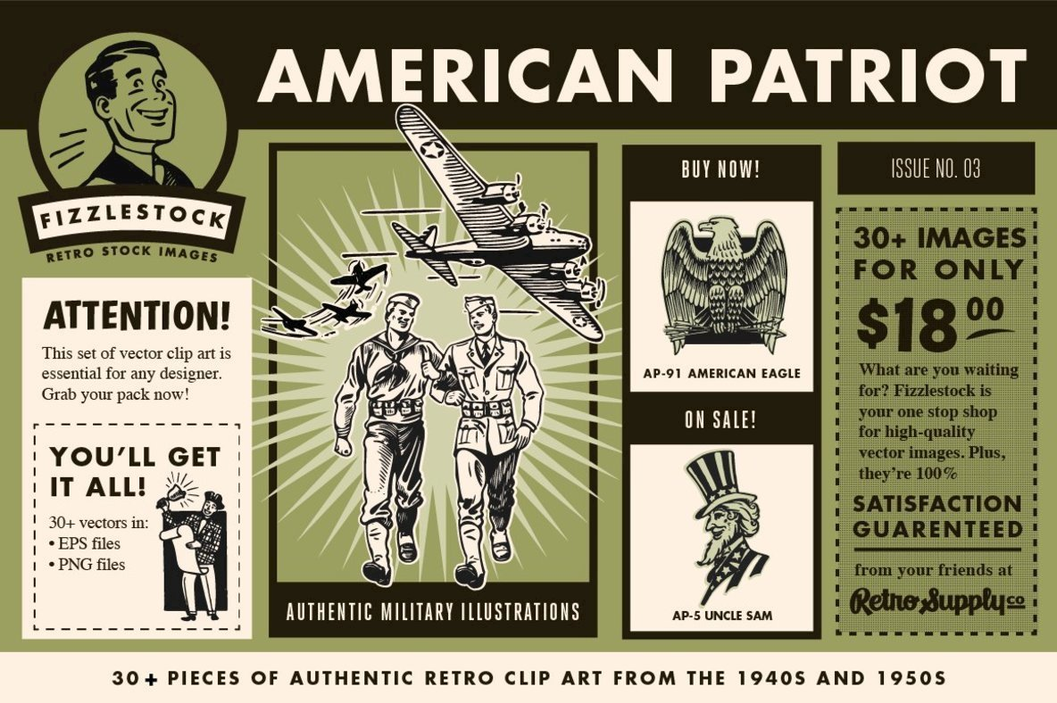 American Patriot   Clip Art Pack