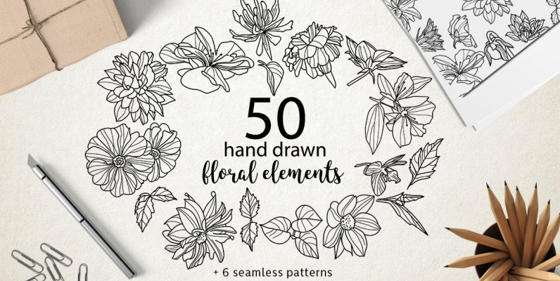 Hand Drawn Elements and Patterns