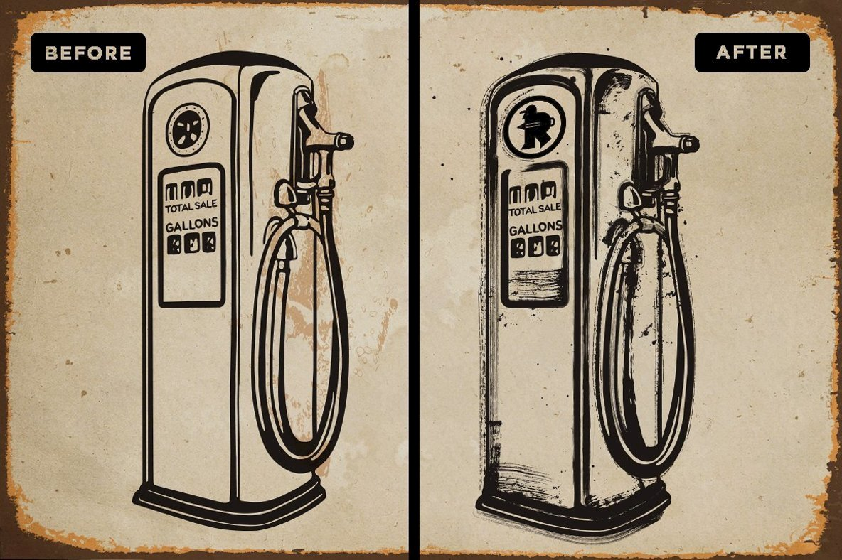 Fuel Station Vector Brushes