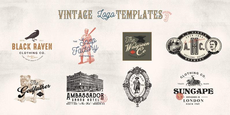 32 Vintage Logo Templates Vol  3