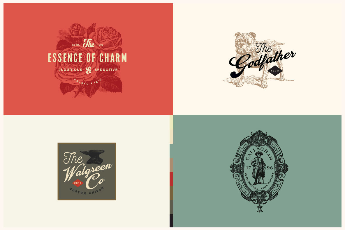 32 Vintage Logo Templates Vol  3
