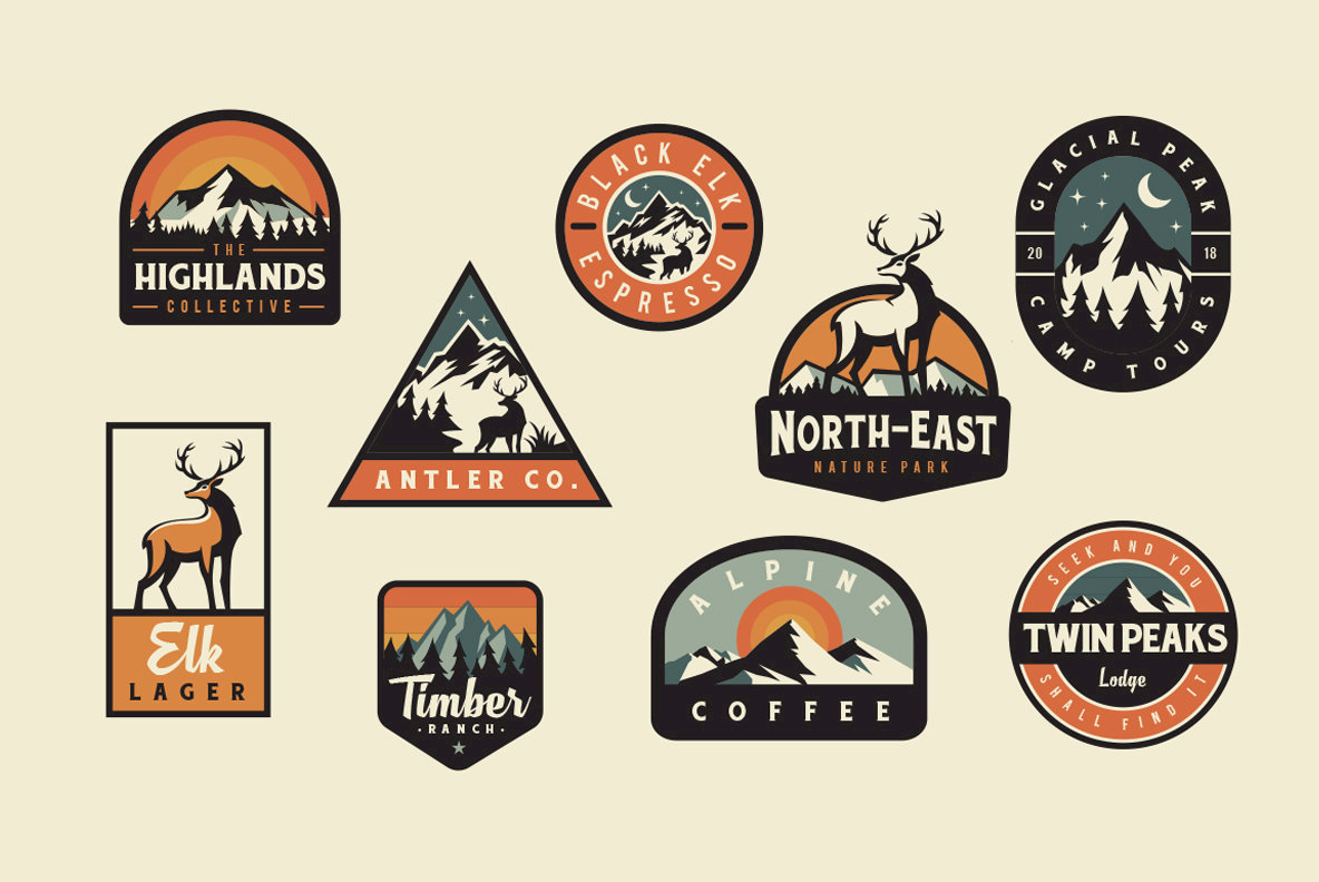 adventure badge logos graphics youworkforthem