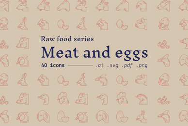 Meat and Eggs   Food Icons