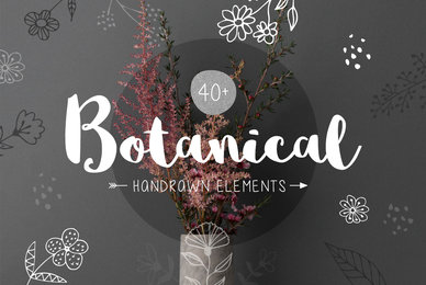 40  Botanical Hand Drawn Elements