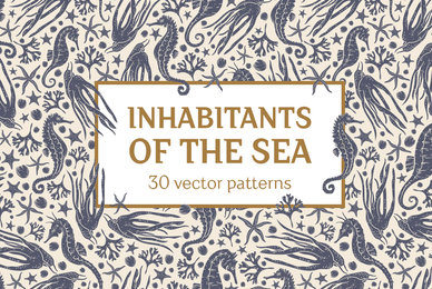 Inhabitants of the sea patterns