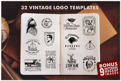 Vintage Logo Templates Vol  1