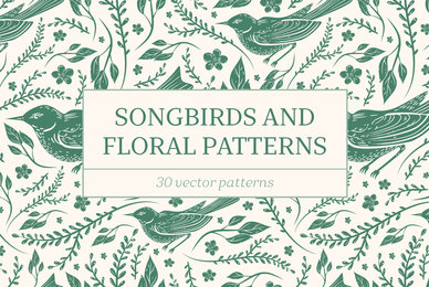 Songbirds and Floral Patterns