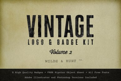 Vintage Logo Badge Kit Vol 2