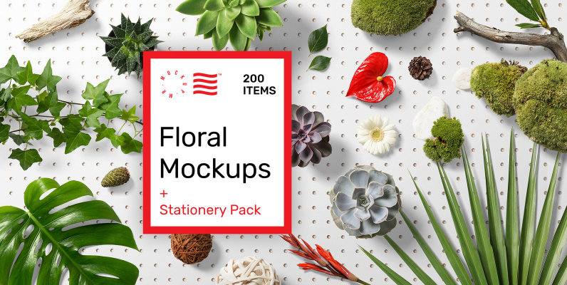 Floral Mockups and Stationery Pack