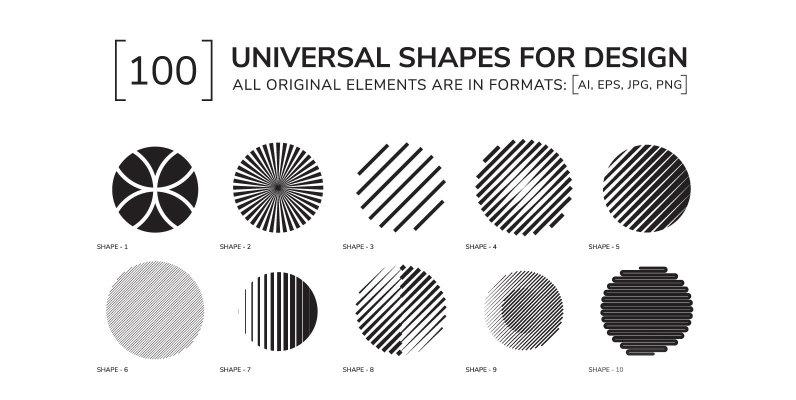 100 Geometric Shapes Part 1