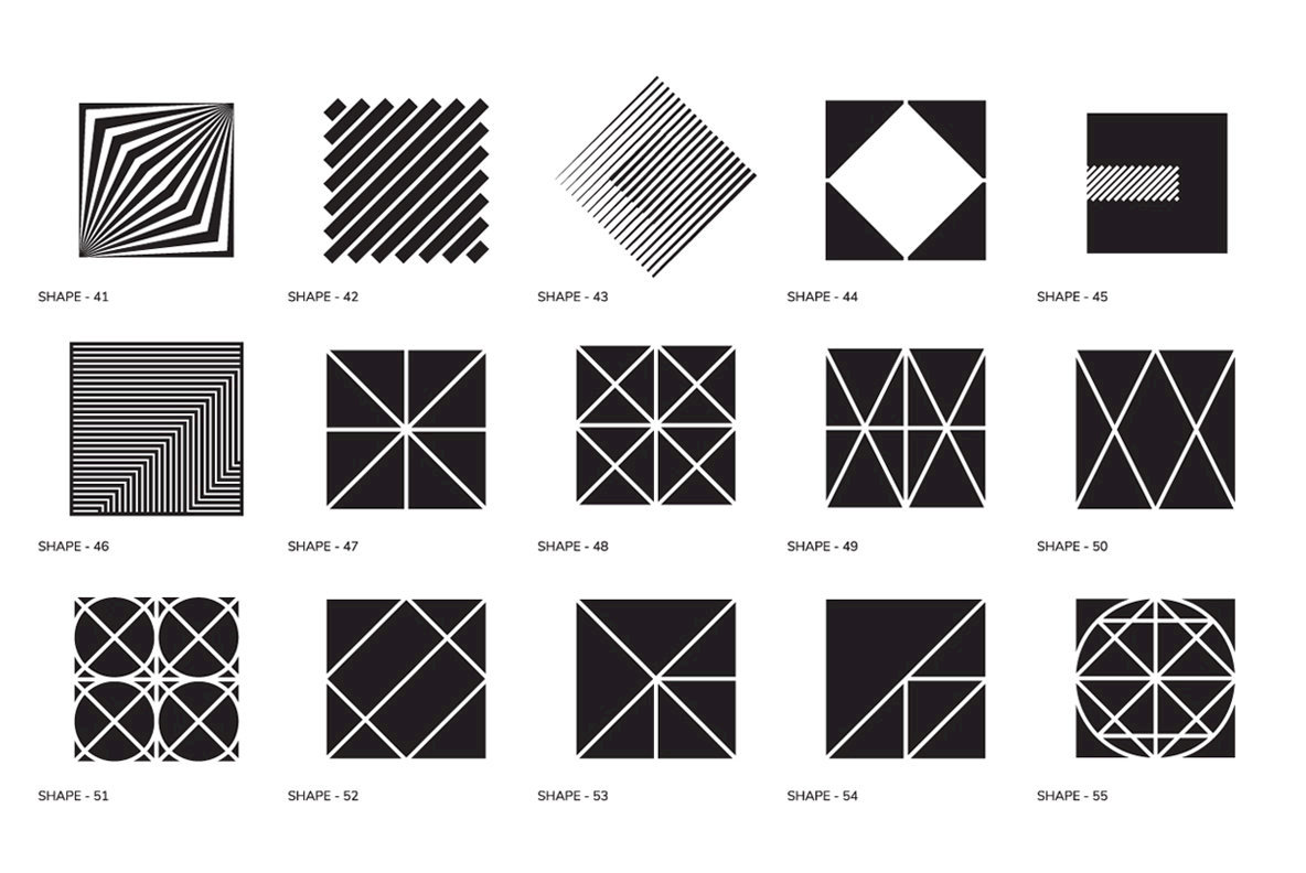 100 Geometric Shapes Part 1