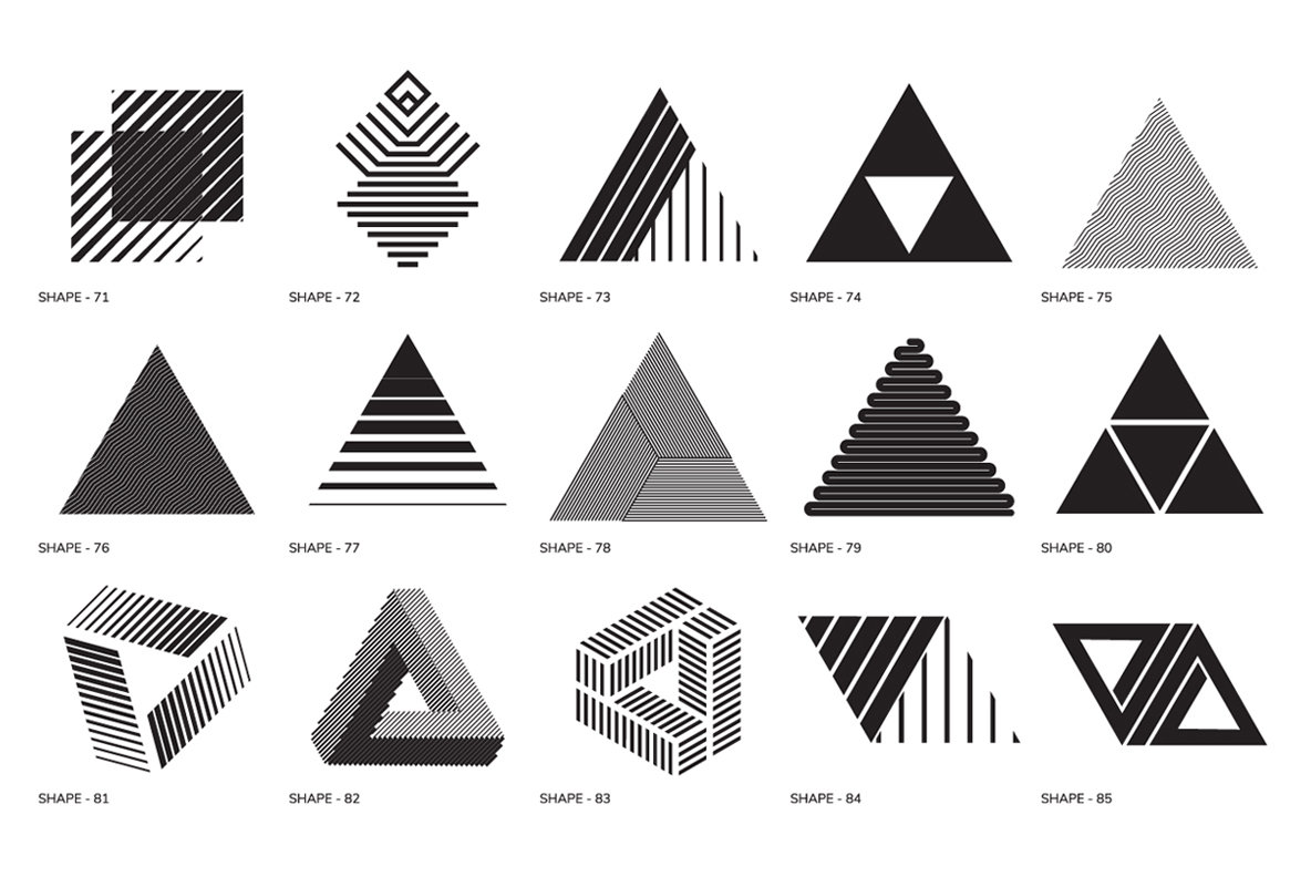 100 geometric shapes part 1 graphics youworkforthem