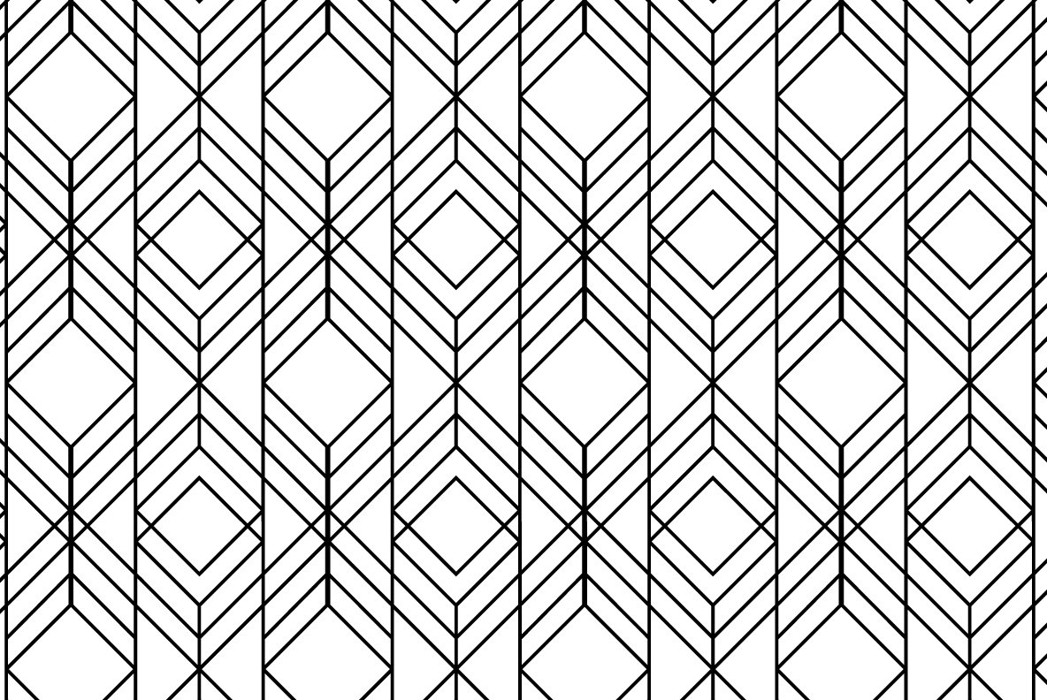 12 Linear Geometric Patterns   Part 1