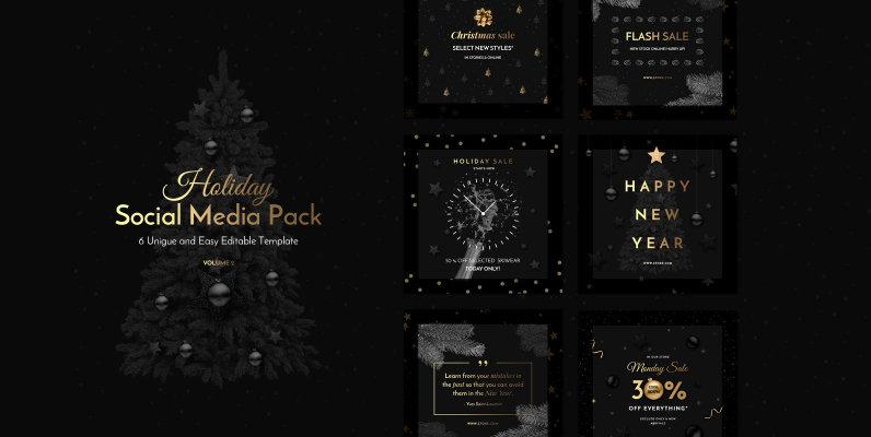 Holiday Social Media Pack Vol 2