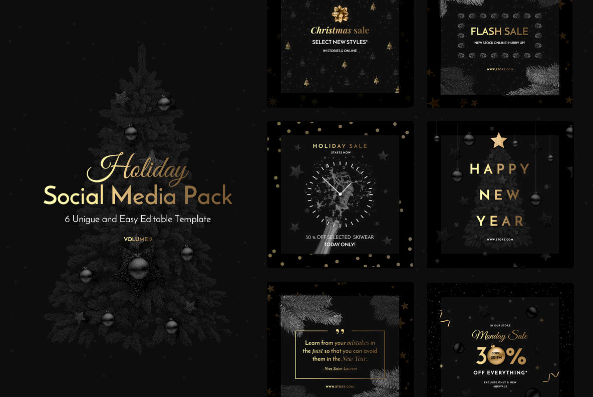 Holiday Social Media Pack Vol 2