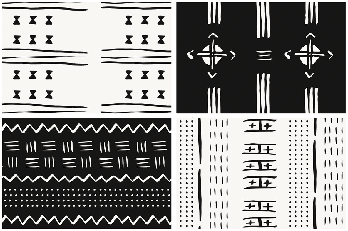African Mudcloth Patterns