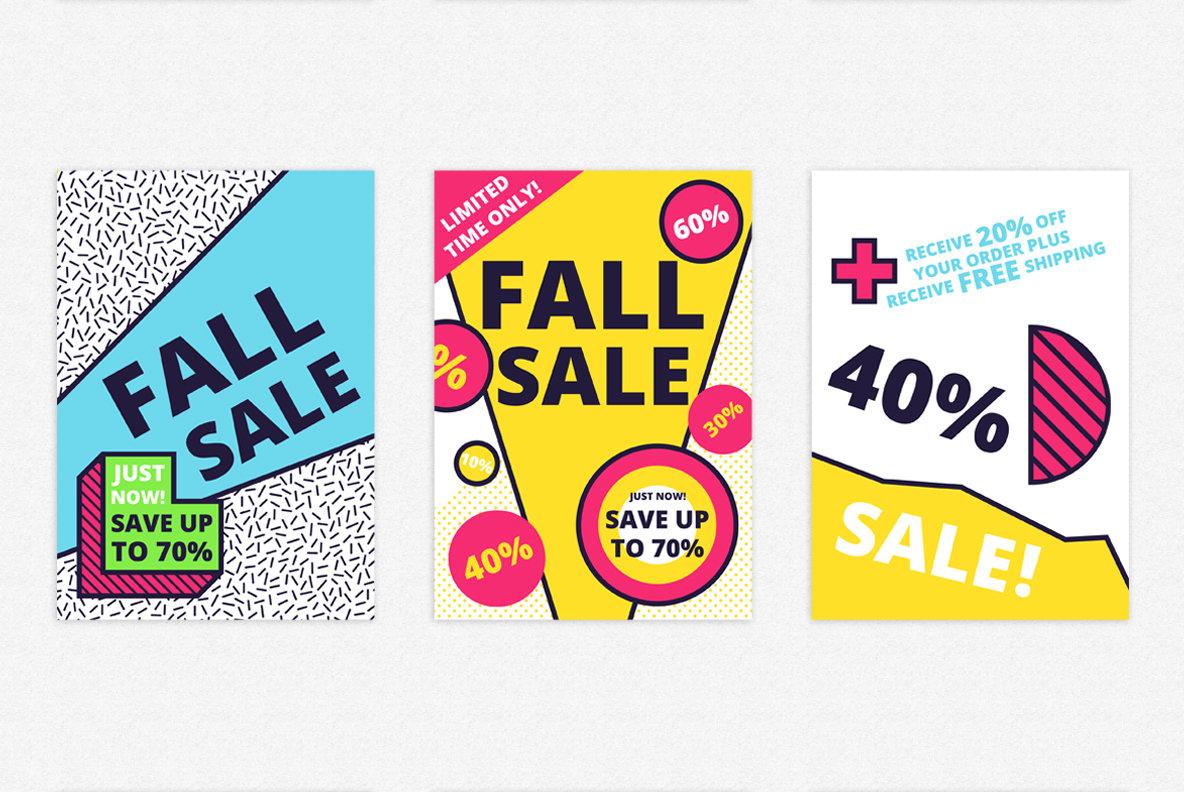 SALE memphis posters set