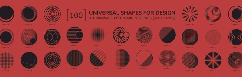 100 Geometric Shapes Part 3