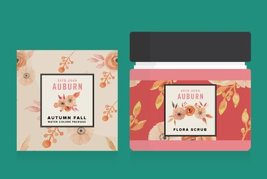Auburn Autumn Fall Watercolor Package