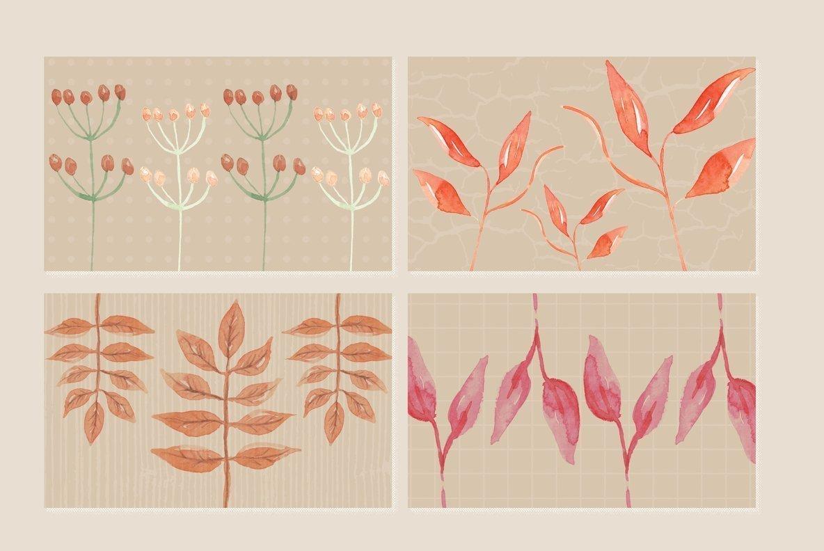 Auburn Autumn Fall Watercolor Package