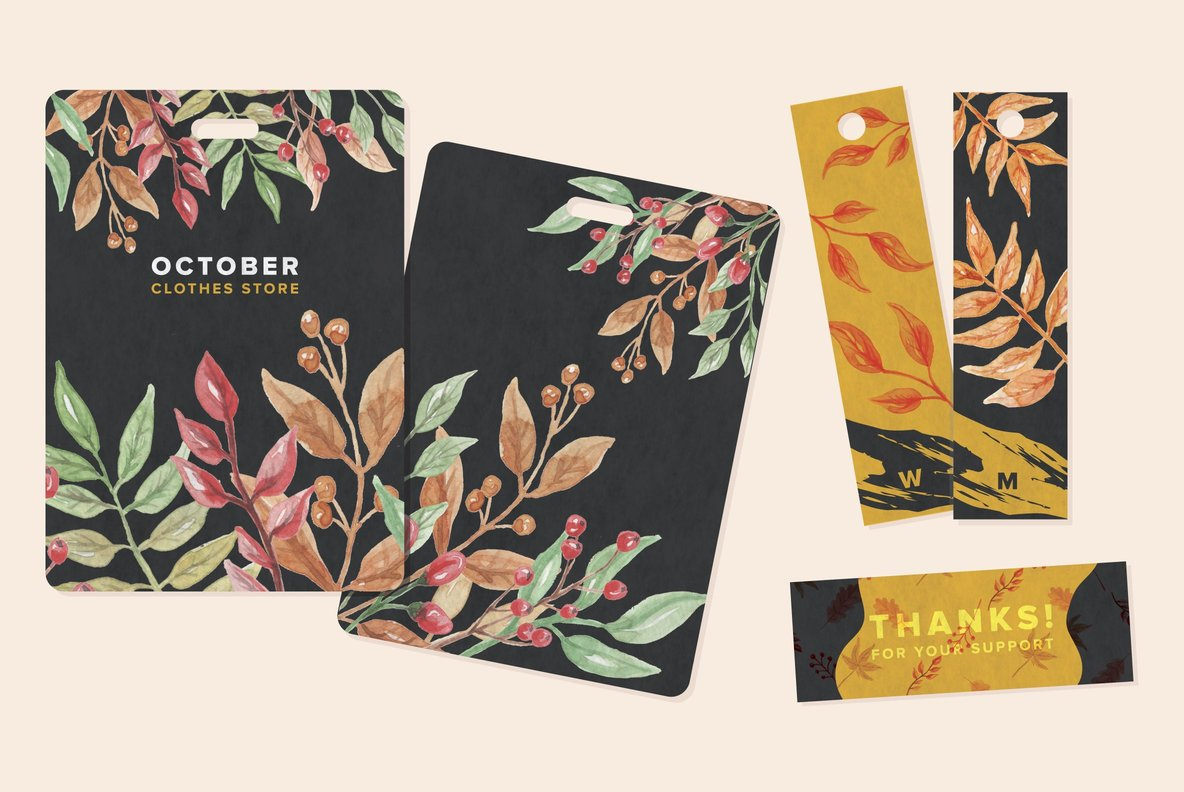 Autumn Fall Watercolor Package