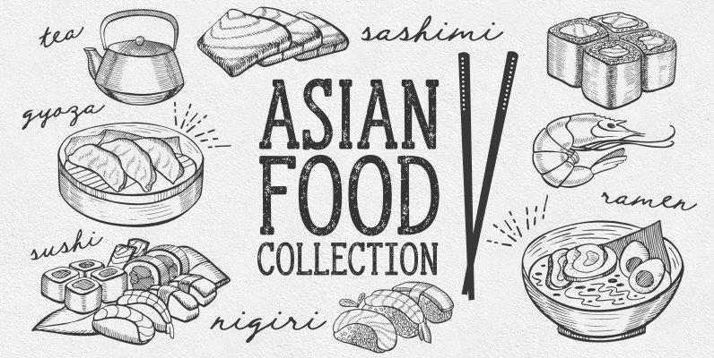 Asian Food Illustrations
