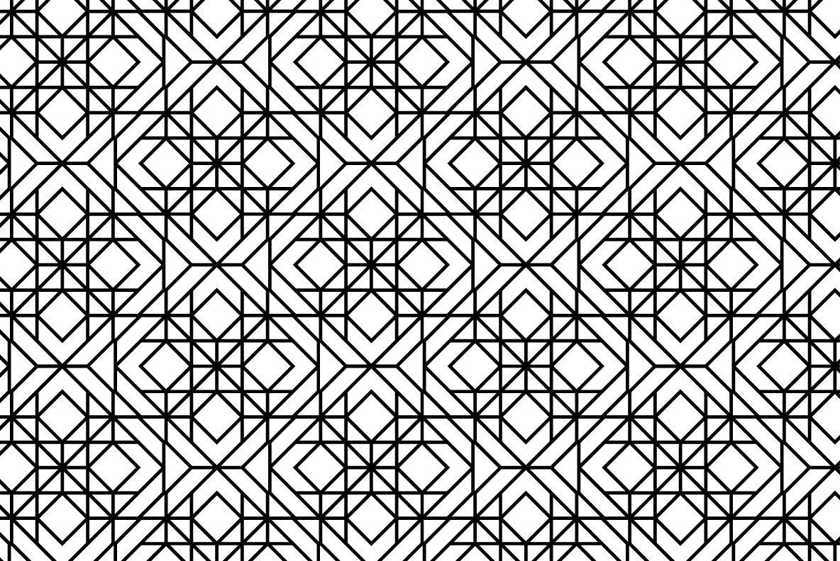 12 Linear Geometric Patterns   Part 2