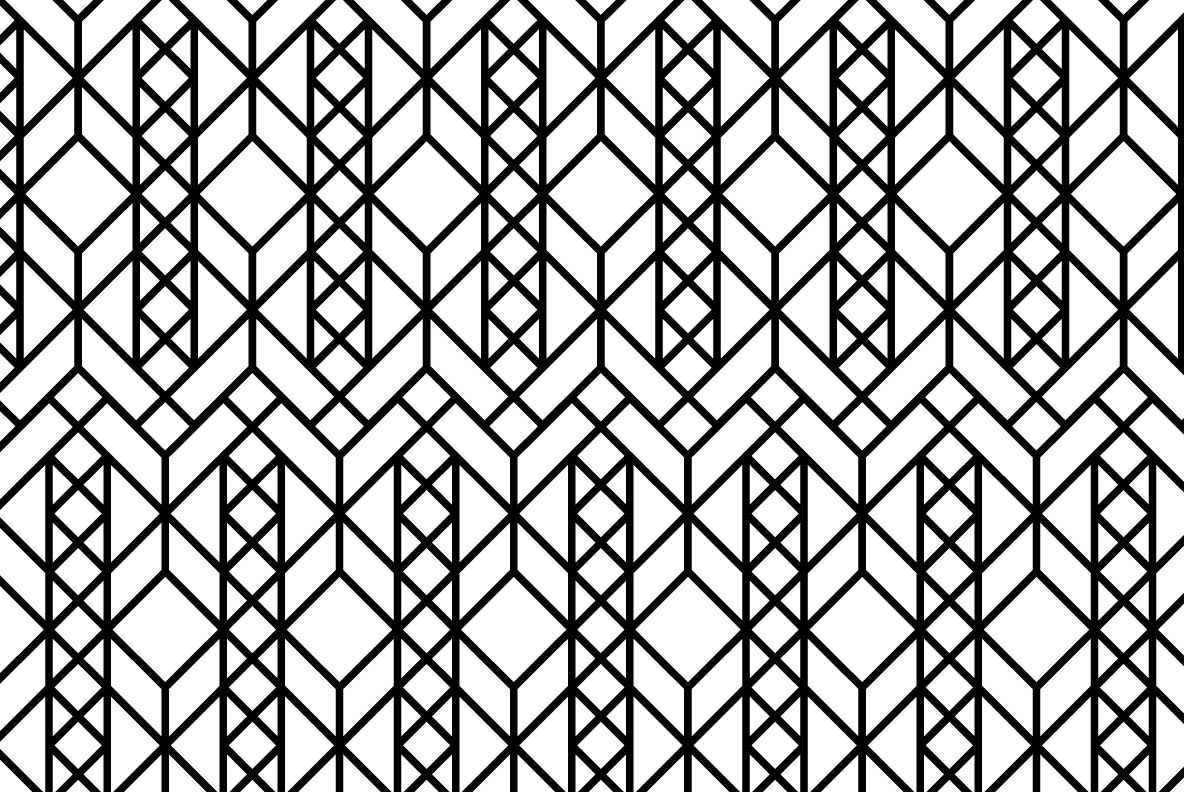 12 Linear Geometric Patterns   Part 2