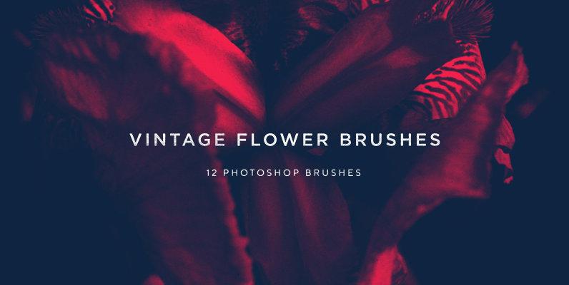 Vintage Flower Brushes