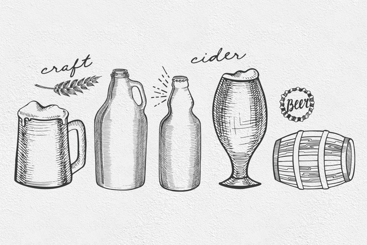Beer Drink Illustrations