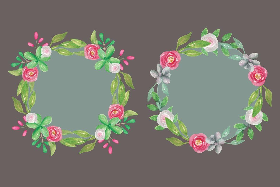 Cactus Flower Watercolor Package
