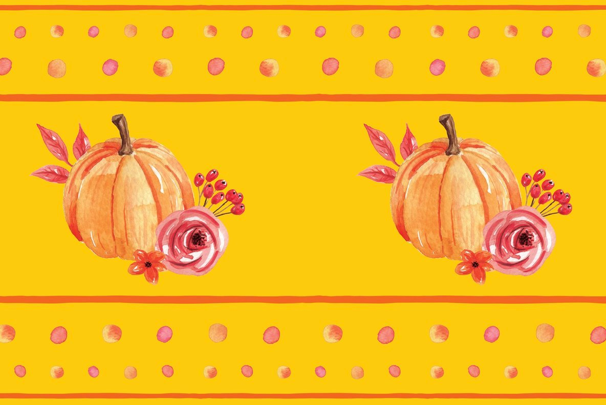 Pumpkin Harvest Festival Watercolor Package
