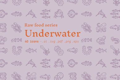 Underwater   Food Icons