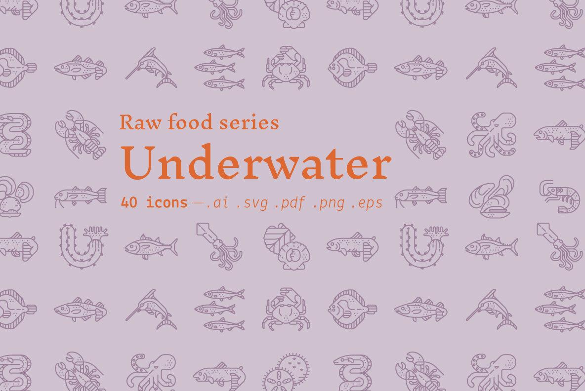 Underwater   Food Icons