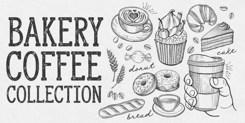 Bakery Food Illustrations