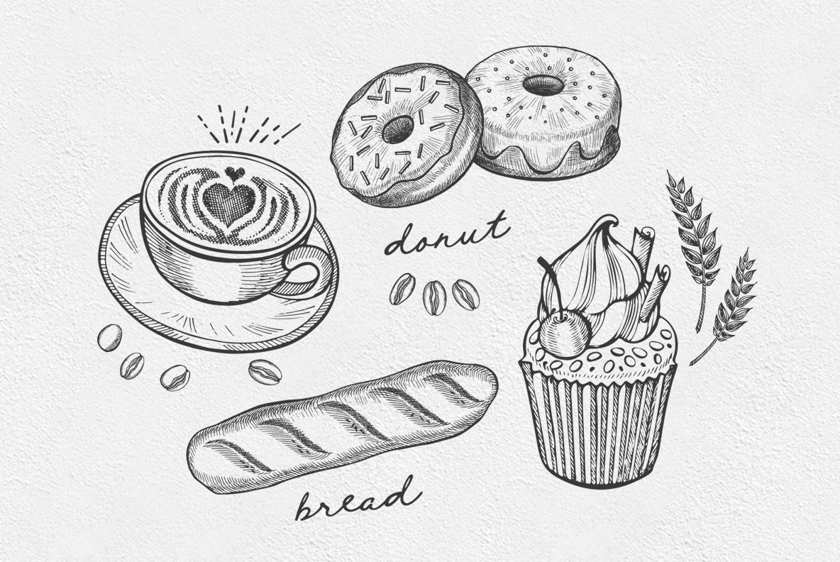 Bakery Food Illustrations