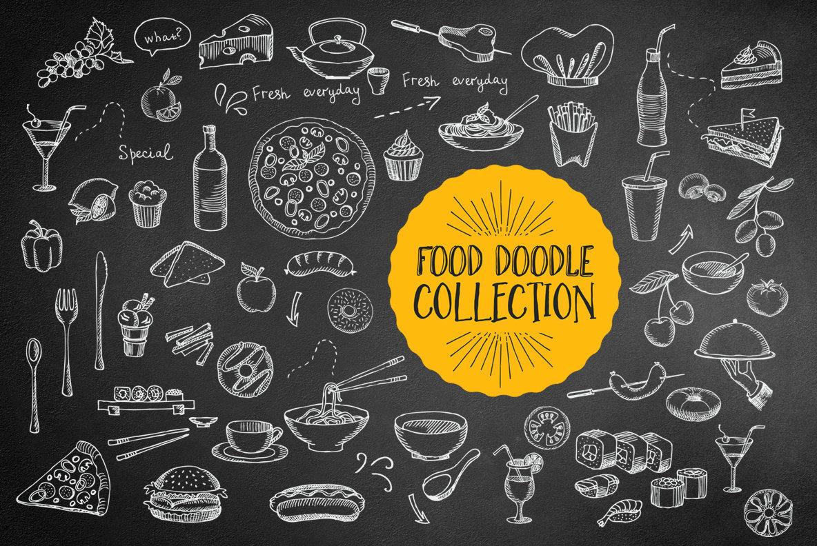 Food Hand Drawn Illustrations