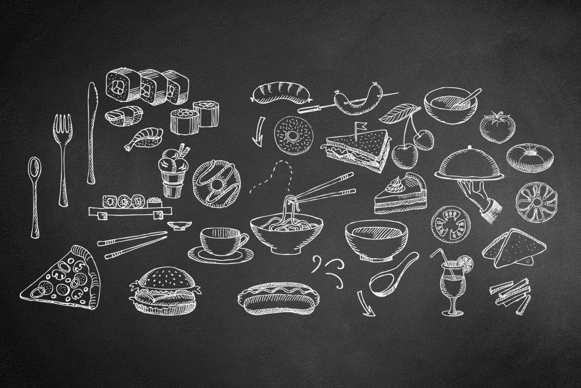 Food Hand Drawn Illustrations