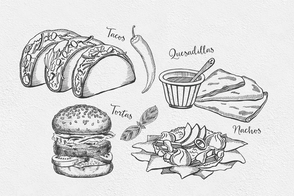 Mexican Food Illustrations