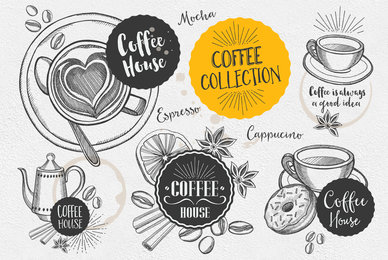Coffee Drink Illustrations