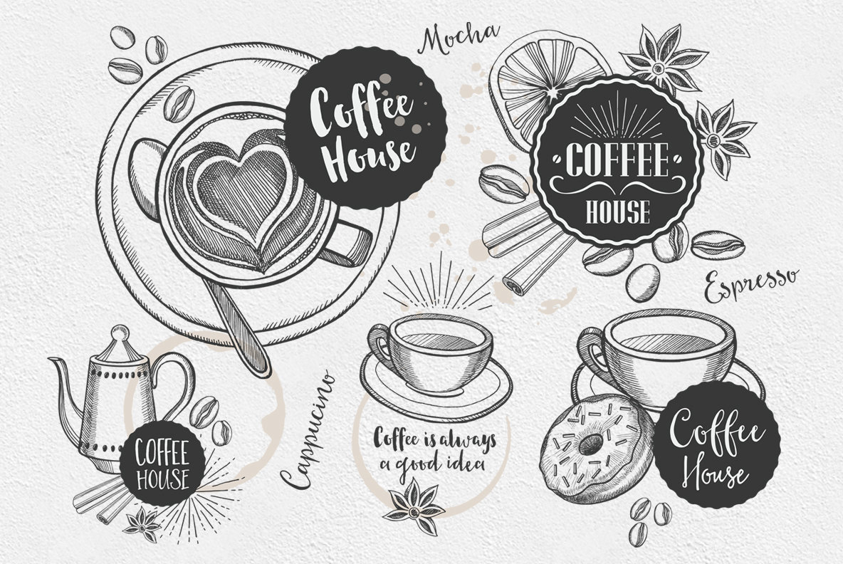 Coffee Drink Illustrations