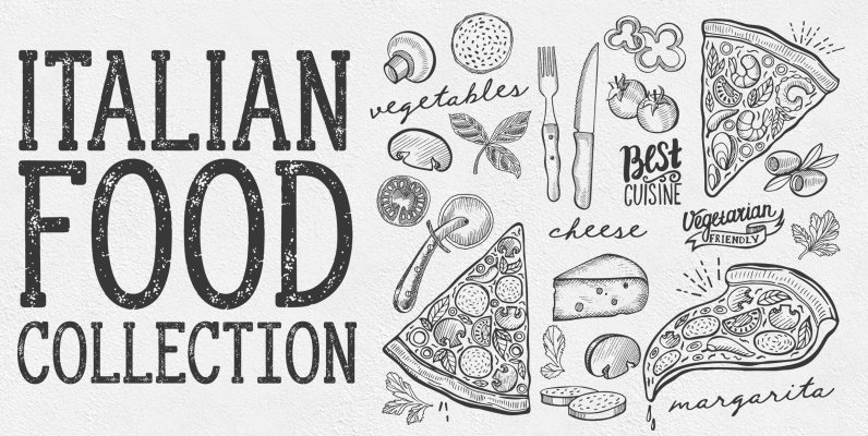 Italian Food Illustrations