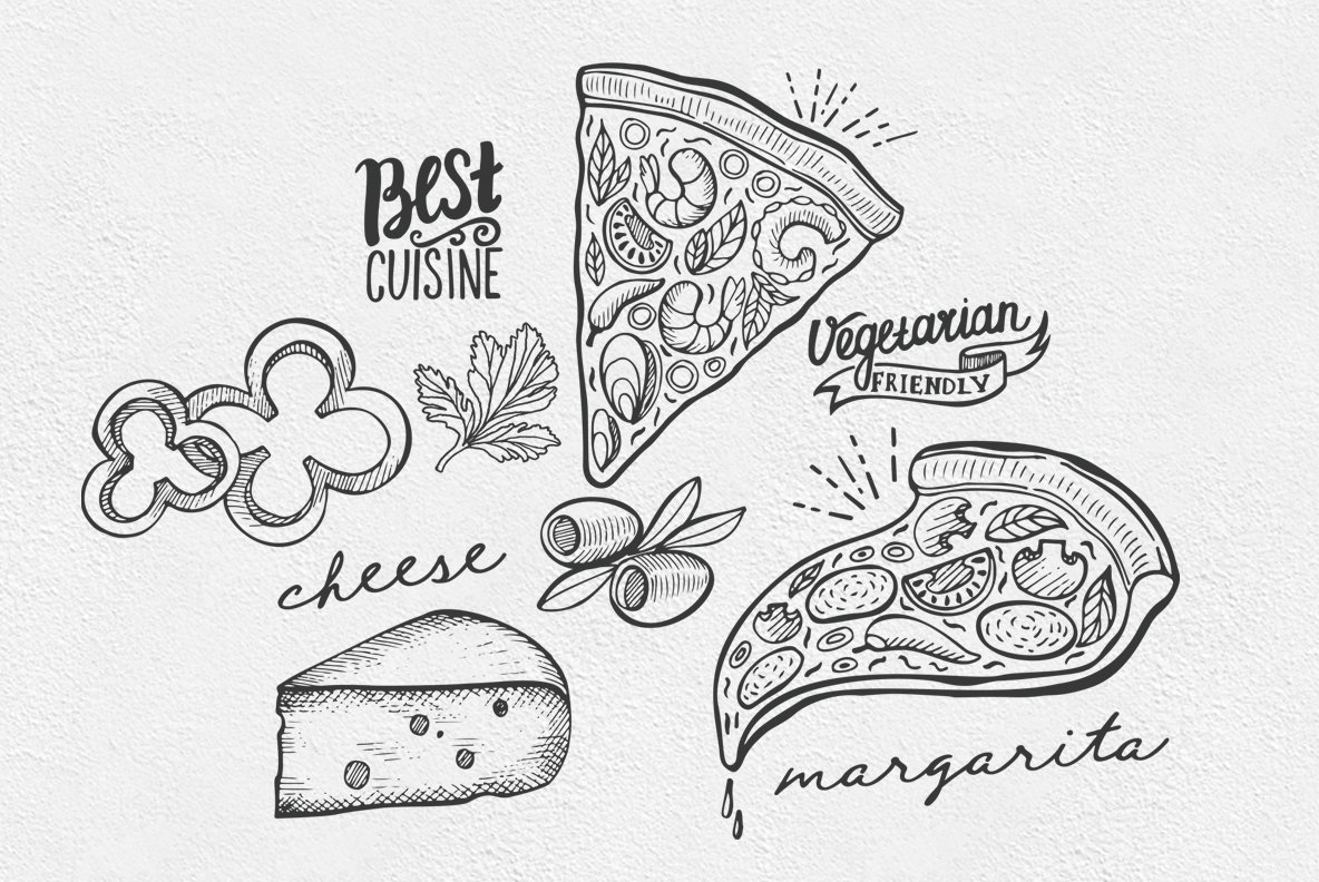 Italian Food Illustrations