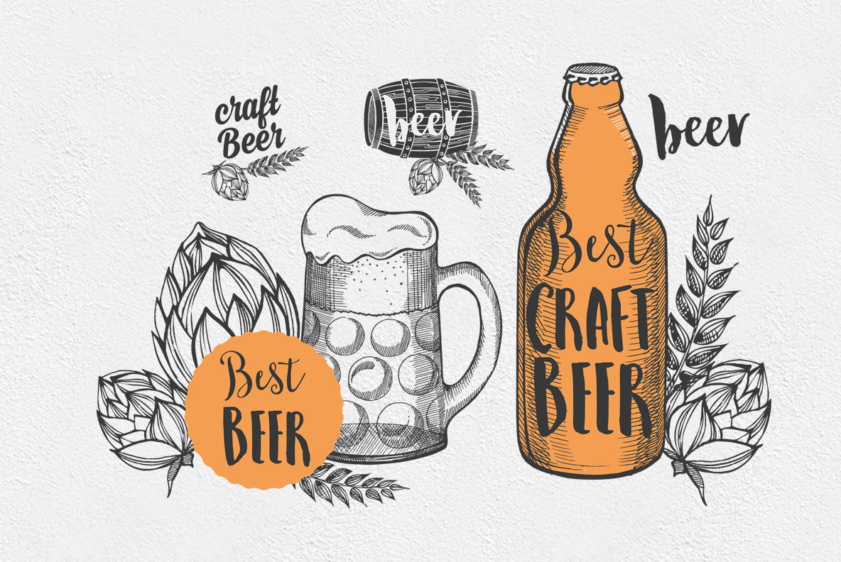 Beer Alcohol Illustrations