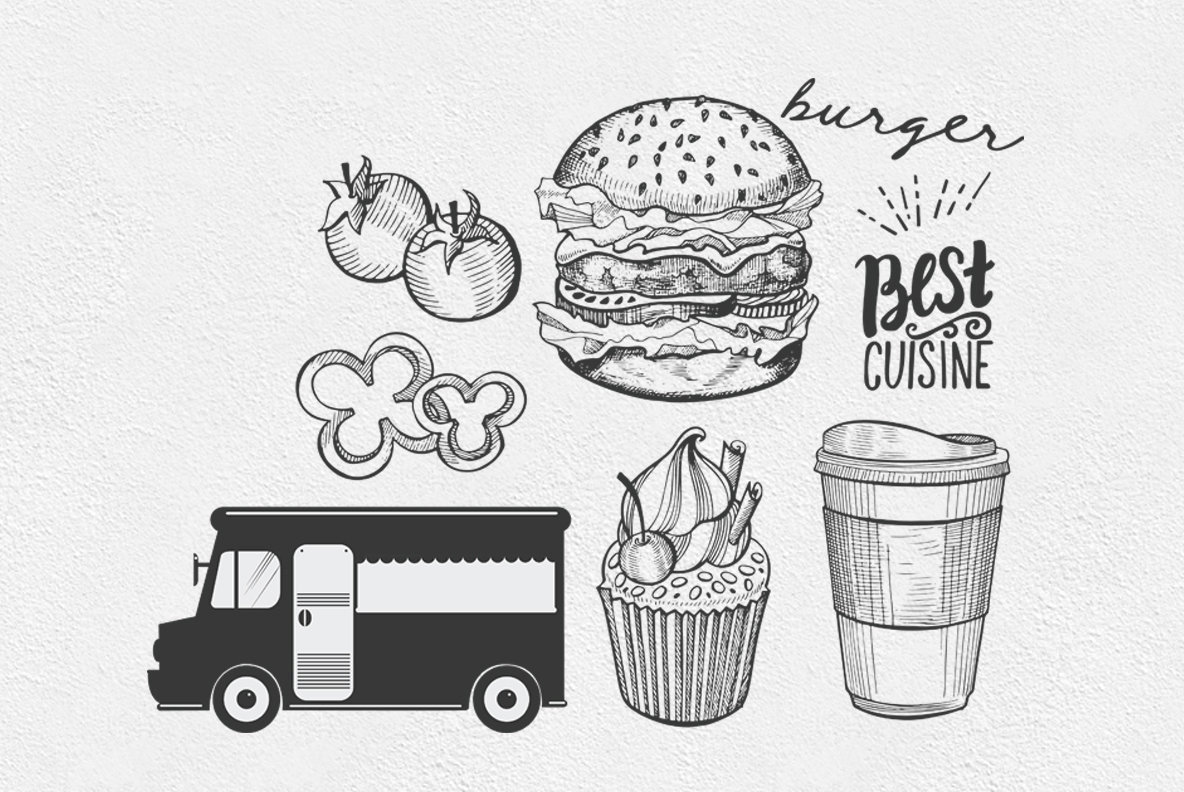 Food Truck Illustrations