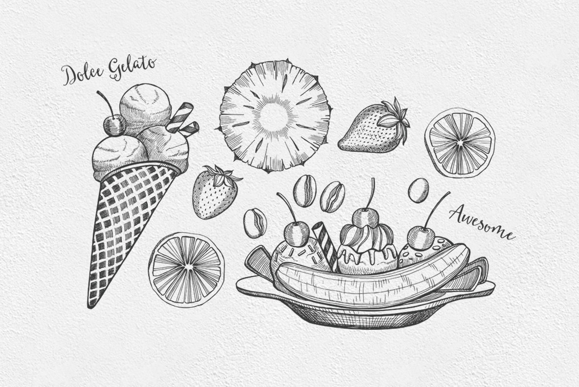 Dessert Food Illustrations