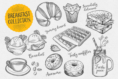 Breakfast Food Illustrations