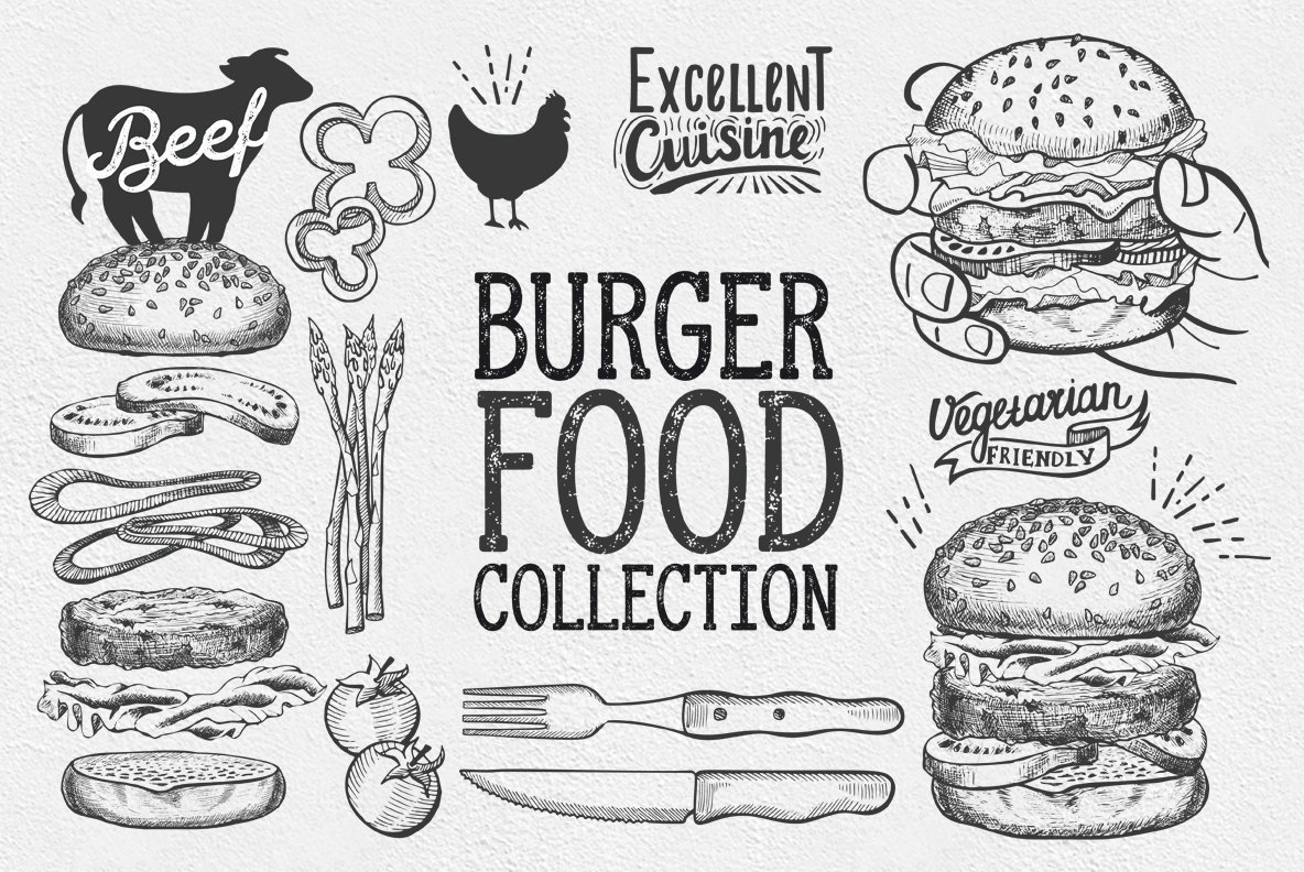Burger Food Illustrations
